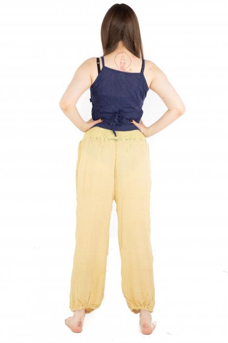 Pantaloni lejeri unicat - Light Yellow 3