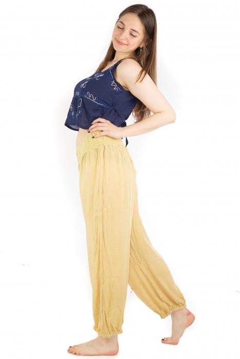 Pantaloni lejeri unicat - Light Yellow 2