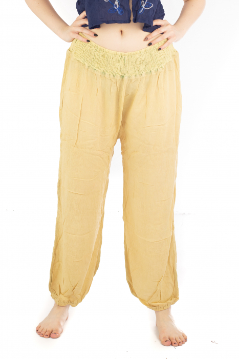 Pantaloni lejeri unicat - Light Yellow 0
