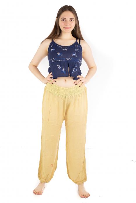 Pantaloni lejeri unicat - Light Yellow 1