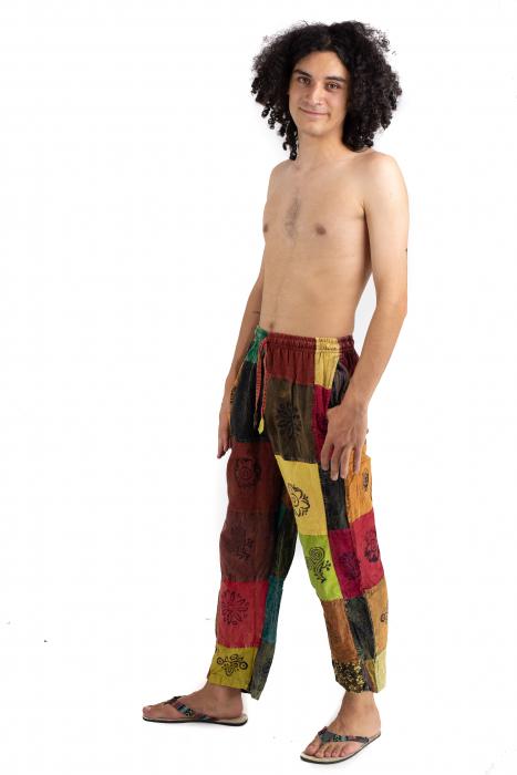 Pantaloni lejeri unicat - Patches - Model 56 [2]