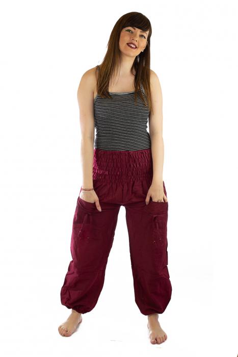 Pantaloni Lejeri - Bordo 0
