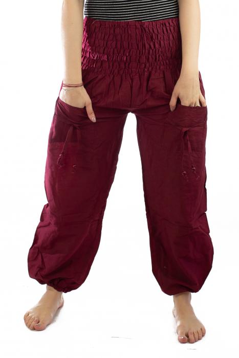 Pantaloni Lejeri - Bordo 1