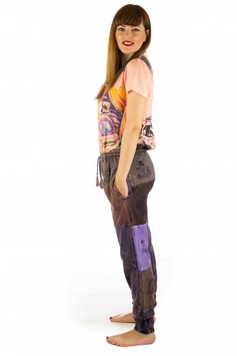 Pantaloni lungi cu patch - Model 17 3