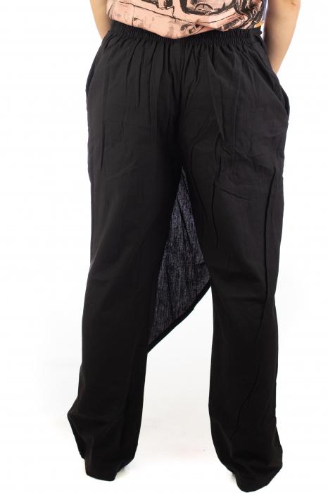 Pantaloni tip fusta din bumbac - Negru SH-92 [7]