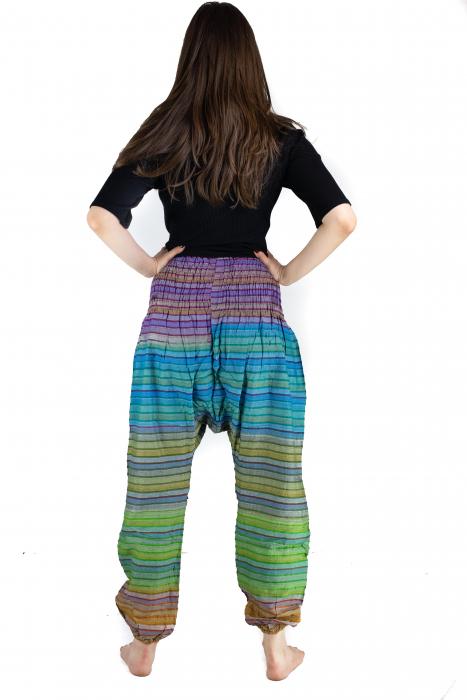Pantaloni multicolori cu talie inalta din bumbac - Unicati - Model 9 - CT22 [2]