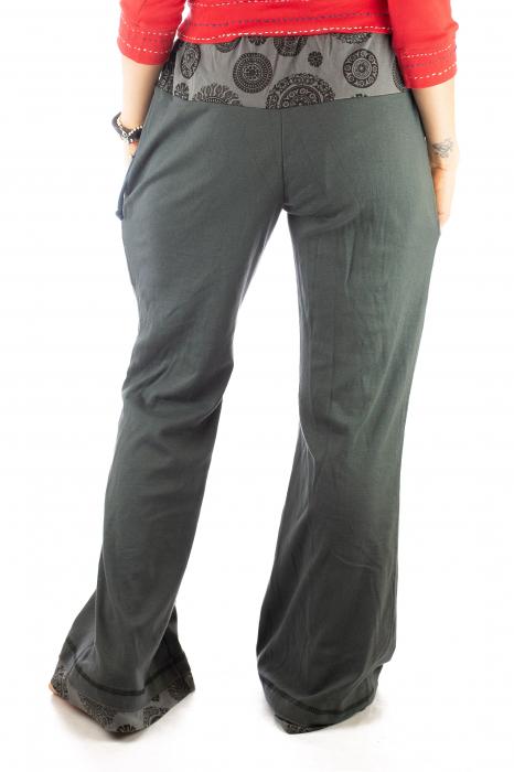 Pantaloni gri - Mandala gri 3