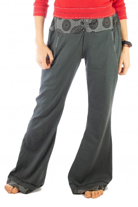 Pantaloni gri - Mandala gri 1