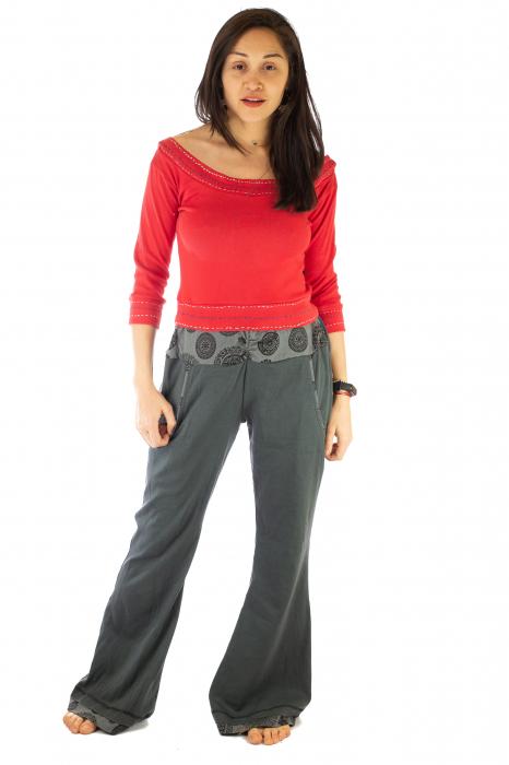 Pantaloni gri - Mandala gri 0