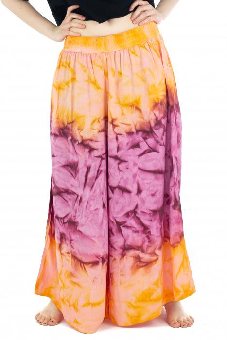 Pantaloni Tie-Dye - Portocaliu [0]