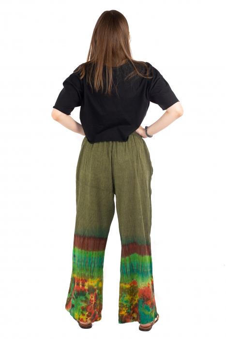 Pantaloni verzi Tie-Dye - Multicolor [3]