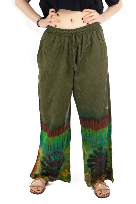 Pantaloni verzi Tie-Dye - Multicolor [0]