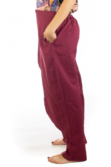 Pantaloni tip fusta din bumbac - Visiniu SH-92 2