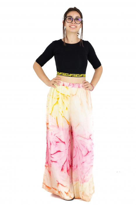 Pantaloni tip petala Tie-Dye - Multicolori [1]