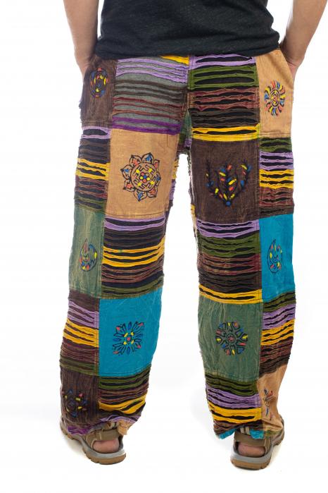 Pantaloni tip razor cut cu pacth - Model 7 3