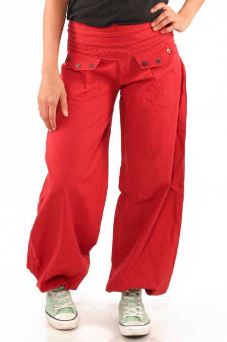 Pantaloni tip salvari - Rosu 1