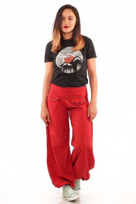 Pantaloni tip salvari - Rosu [3]