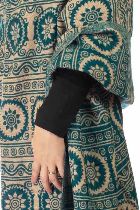 Poncho multicolor din lana - Model 10 3