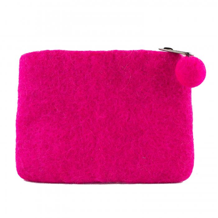 Portofel Roz din feltru - Cat 1