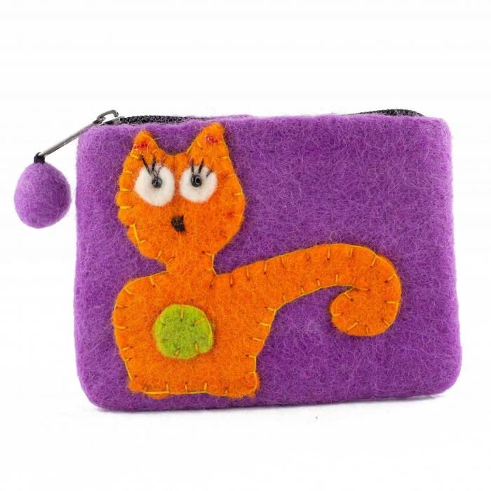 Portofel Mov din feltru - Cat 0