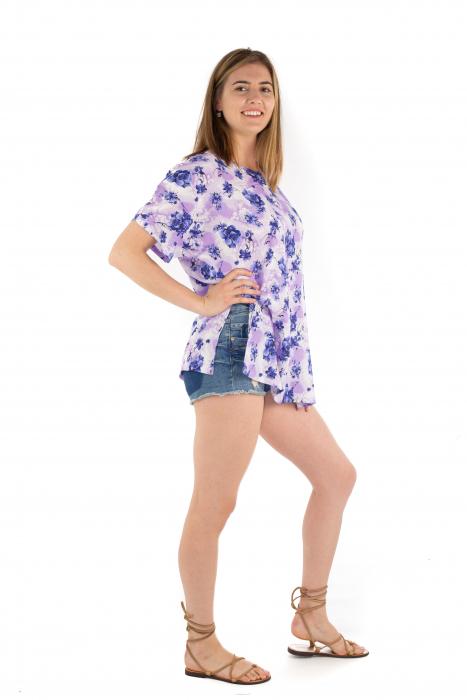 Poncho din Rayon - Lilac Utopia [3]
