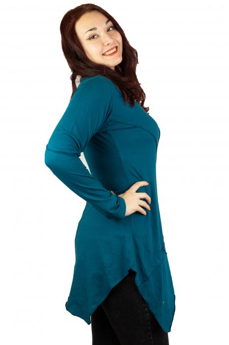 Rochie cu maneca lunga - Albastra 1