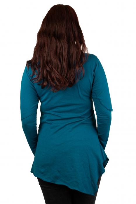 Rochie cu maneca lunga - Albastra 2