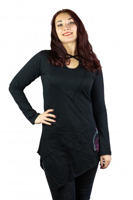 Rochie cu maneca lunga - Neagra 0