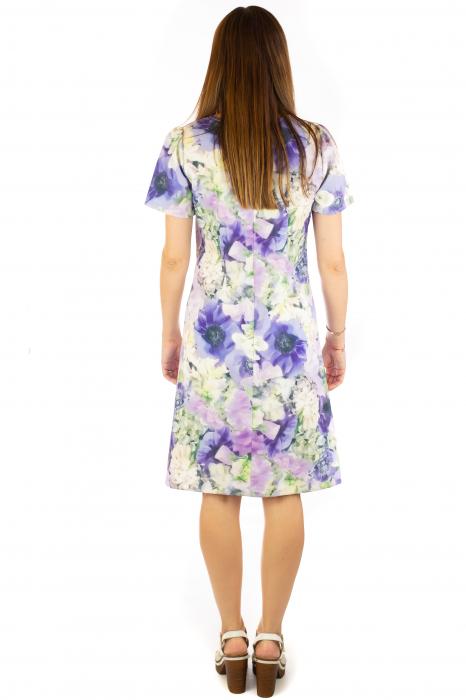 Rochie cu print digital floral - Zambile 5