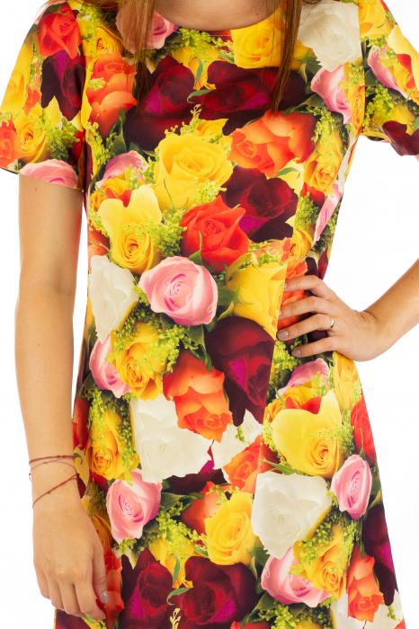 Rochie cu print digital - Roses [1]
