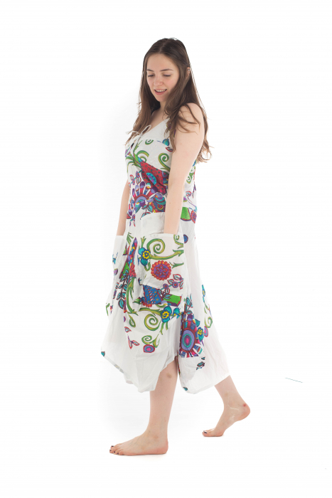 Rochie de plaja lejera - Alba - Floral Hippie HI1494A 2