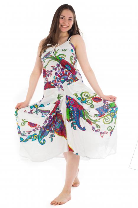 Rochie de plaja lejera - Alba - Floral Hippie HI1494A 0