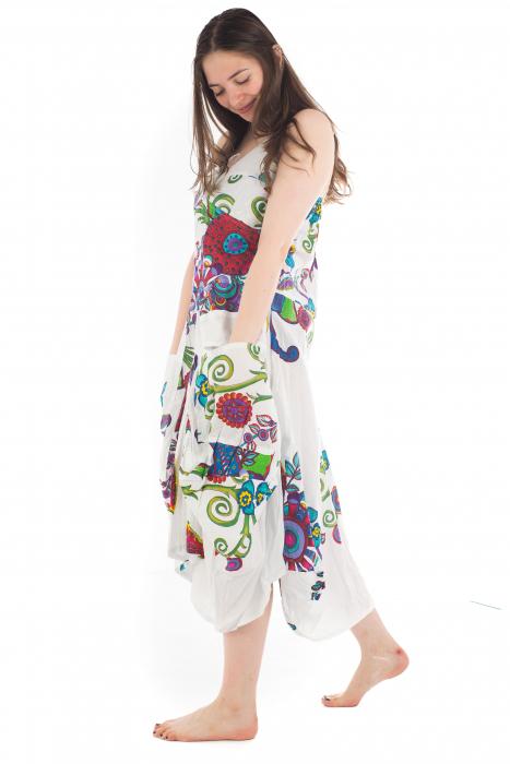 Rochie de plaja lejera - Alba - Floral Hippie HI1494A 3