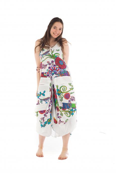 Rochie de plaja lejera - Alba - Floral Hippie HI1494A 4