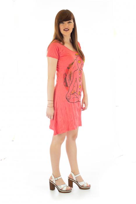 Rochie de vara cu print - Chakra 4 3