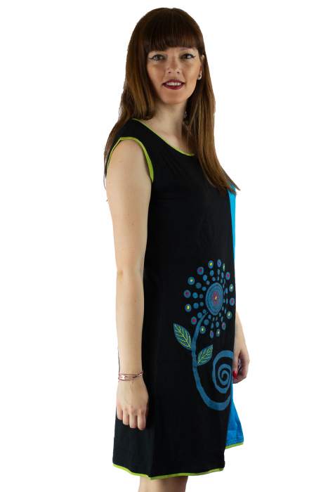 Rochie din bumbac cu imprimeu floral 3