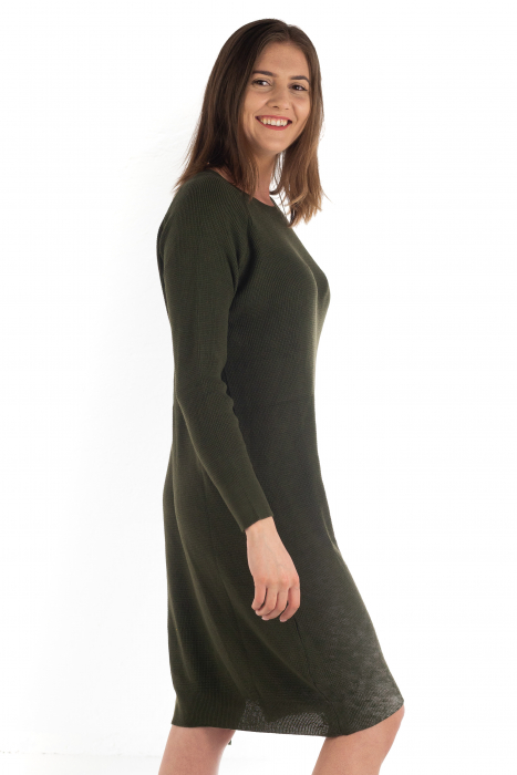 Rochie din bumbac - Verde Inchis [1]
