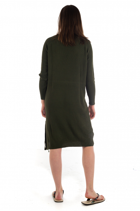 Rochie din bumbac - Verde Inchis [2]