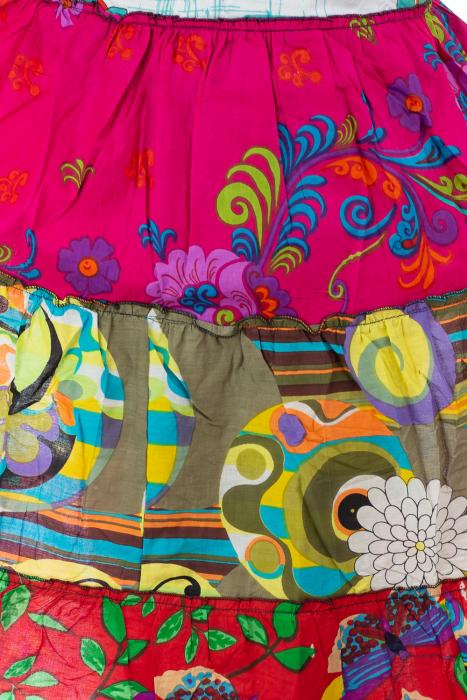 Rochie multicolora de plaja - Flower Mix - Roz 4