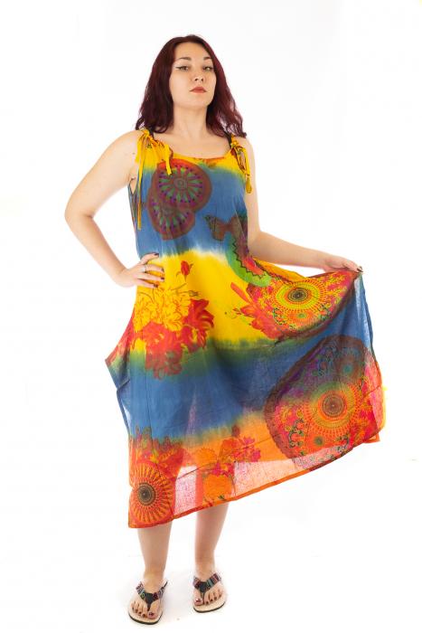 Rochie multicolora de plaja - Blue Mix 0