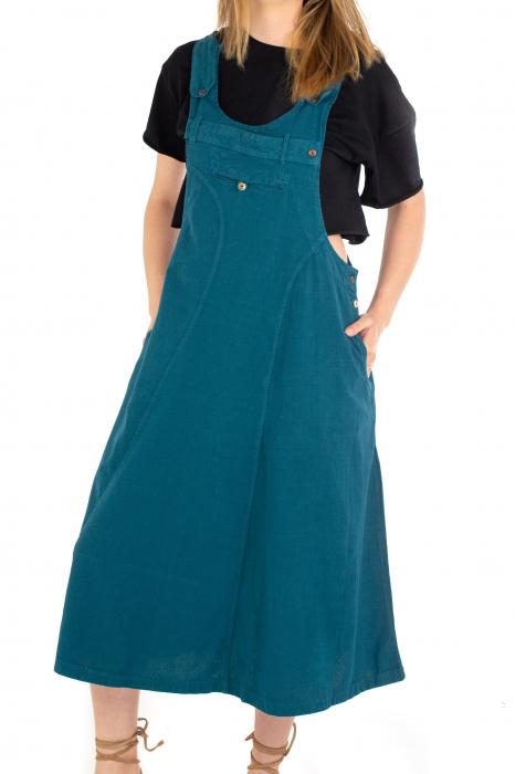 Rochie sarafan dama lunga - Albastru deschis [0]