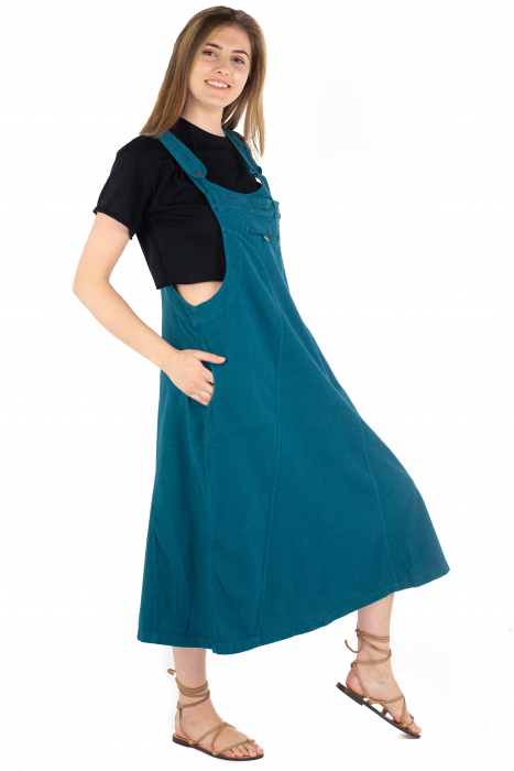 Rochie sarafan dama lunga - Albastru deschis [2]