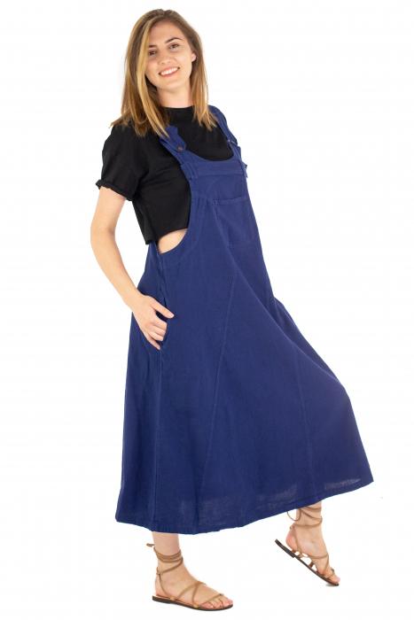 Rochie sarafan dama lunga - Albastru Inchis [2]