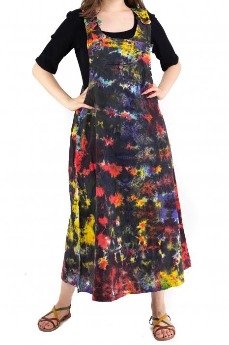 Rochie tip sarafan Tie Dye - Multicolora [0]