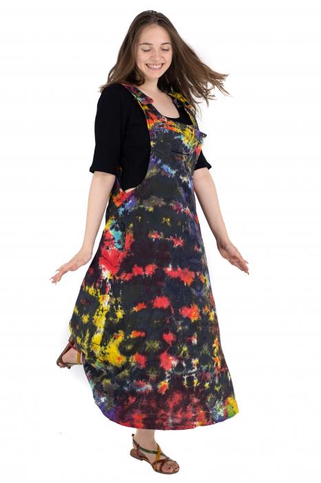 Rochie tip sarafan Tie Dye - Multicolora [4]