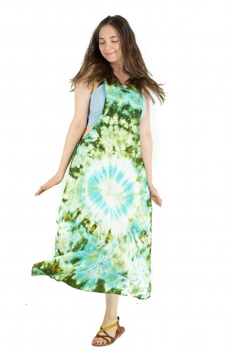 Rochie tip sarafan Tie Dye - Verde [3]