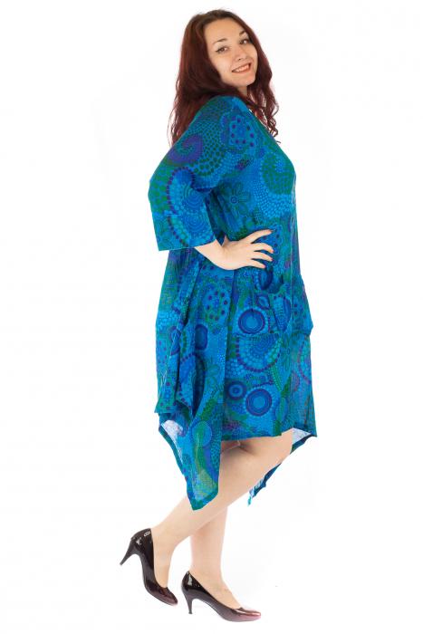 Rochie vaporoasa de vara albastra 2