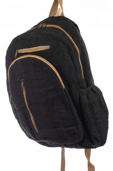 Rucsac din canepa - Negru simplu 1