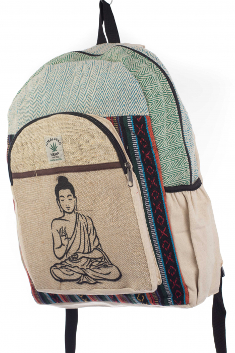 Rucsac din canepa si bumbac - Buddha 5 Albastru 1