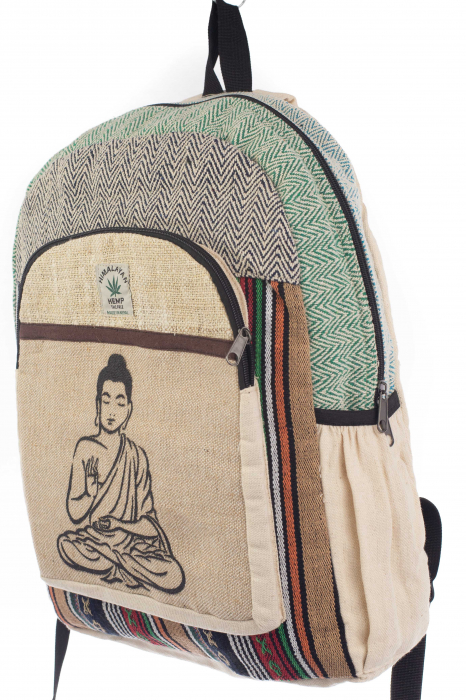 Rucsac din canepa si bumbac - Buddha 6 Negru 1